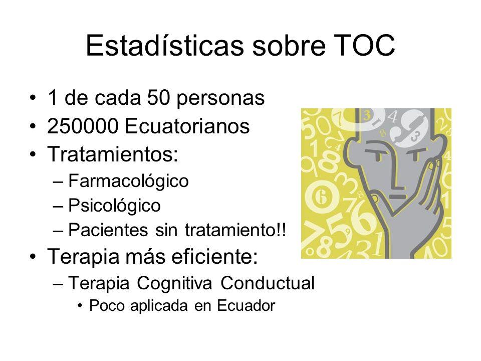 Estadísticas sobre TOC