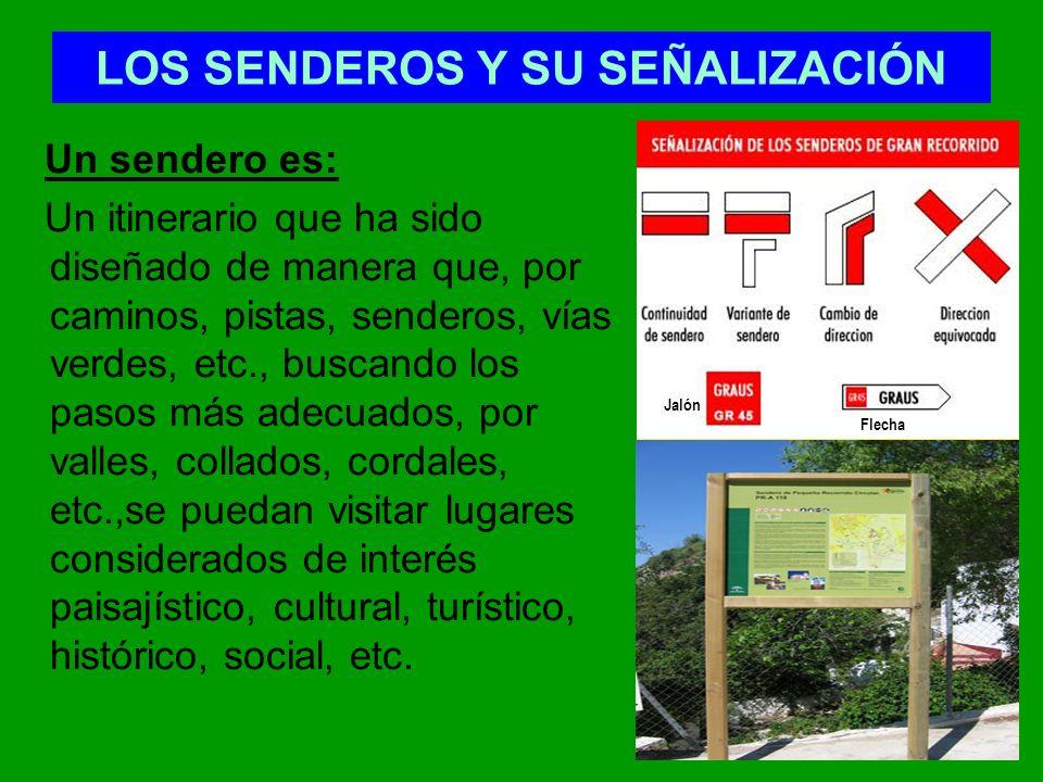 LOS SENDEROS Y SU SEÑALIZACIÓN
