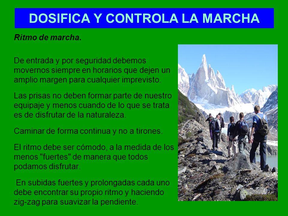 DOSIFICA Y CONTROLA LA MARCHA