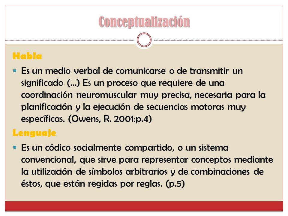 Conceptualización Habla