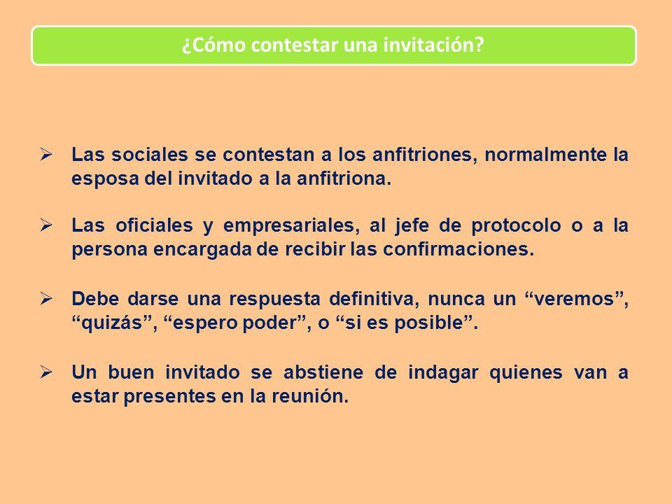 ¿Cómo contestar una invitación