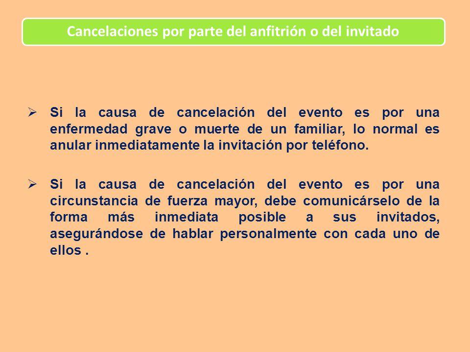 Cancelaciones por parte del anfitrión o del invitado