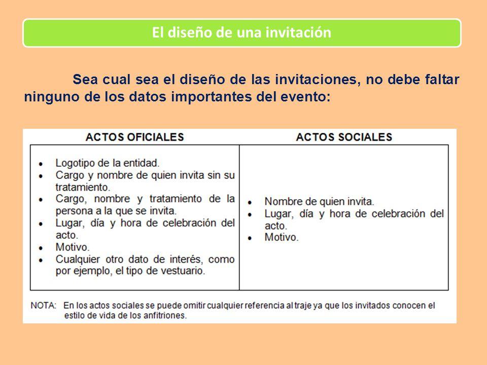 El diseño de una invitación