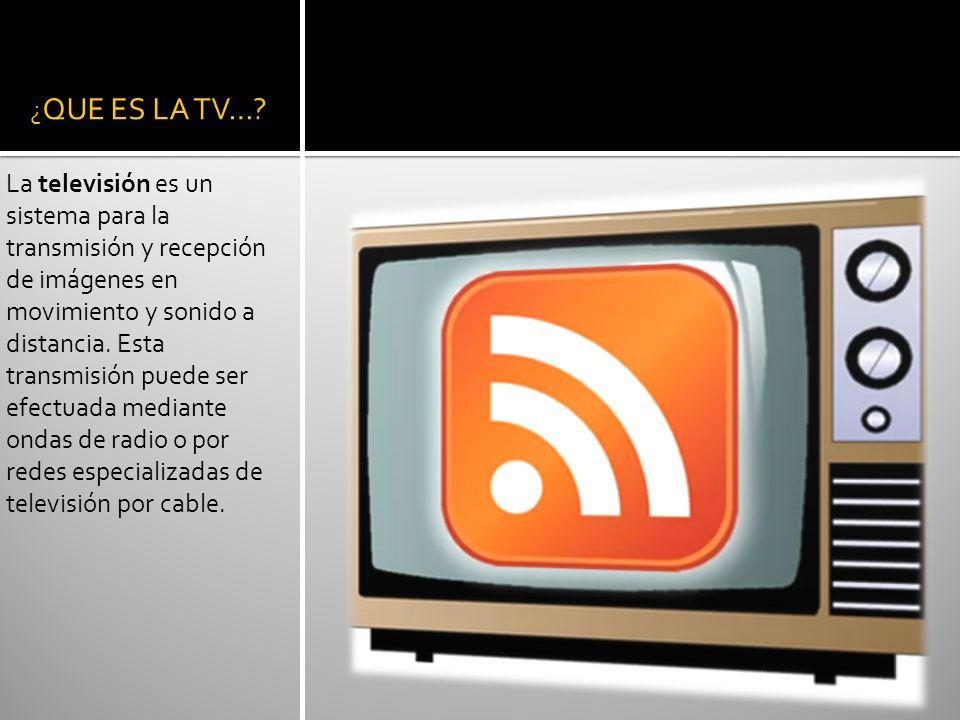 ¿QUE ES LA TV…