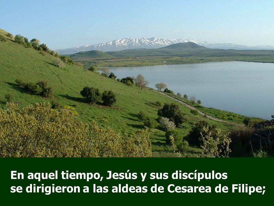 En aquel tiempo, Jesús y sus discípulos se dirigieron a las aldeas de Cesarea de Filipe;