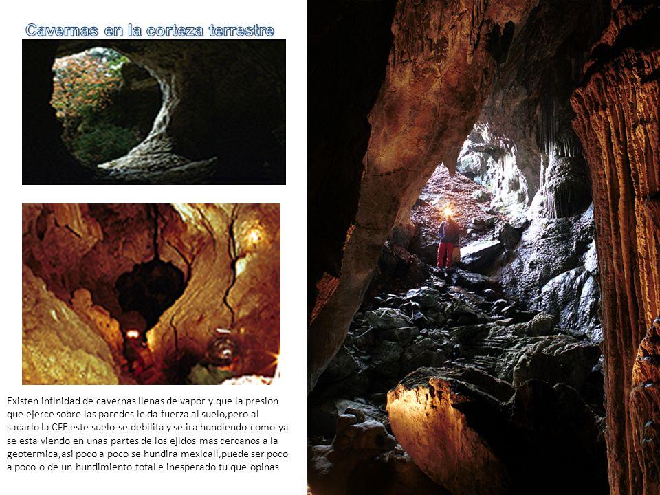 Cavernas en la corteza terrestre