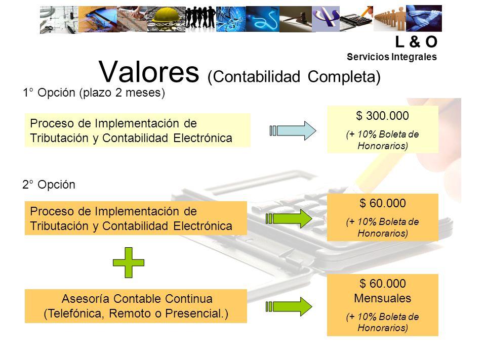 Valores (Contabilidad Completa)