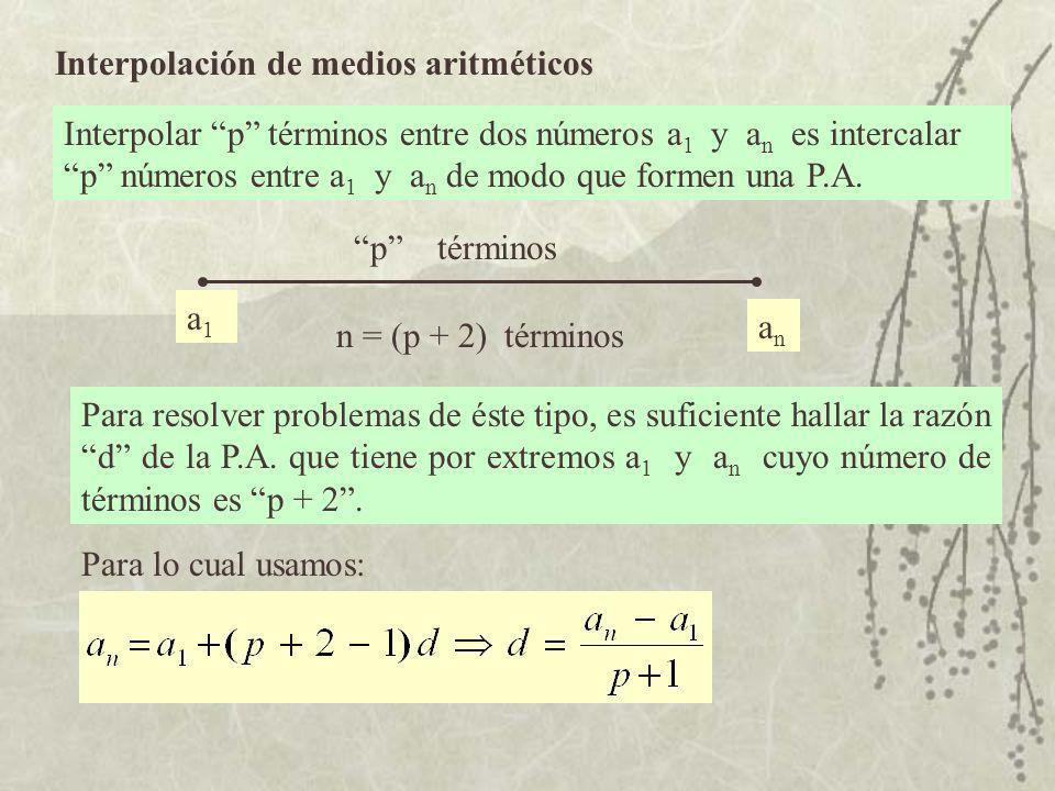 Interpolación de medios aritméticos