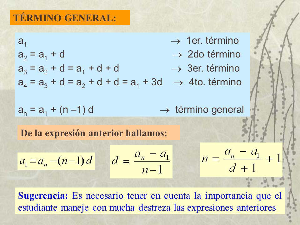 TÉRMINO GENERAL: a1  1er. término.