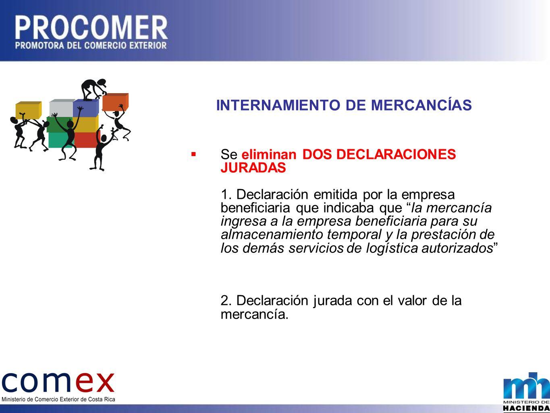 INTERNAMIENTO DE MERCANCÍAS