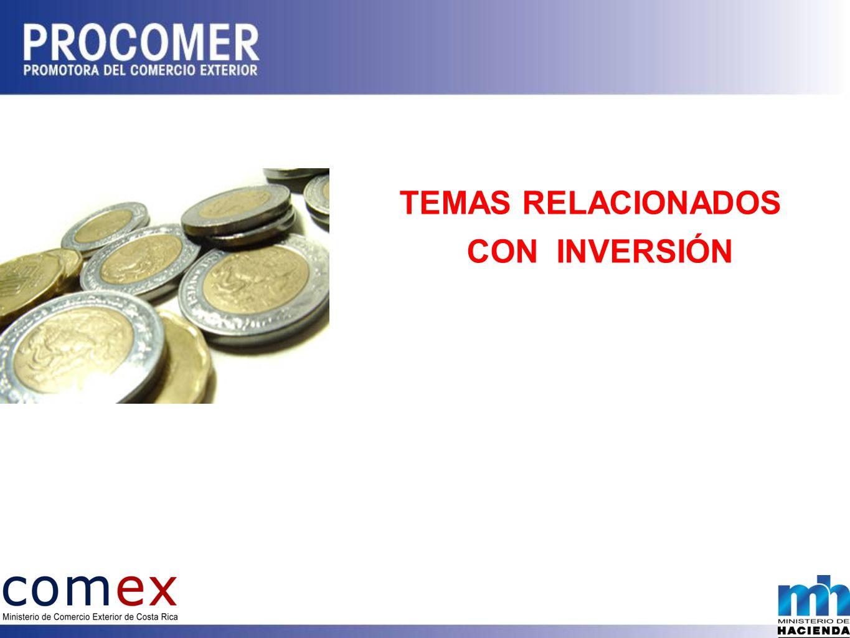 TEMAS RELACIONADOS CON INVERSIÓN