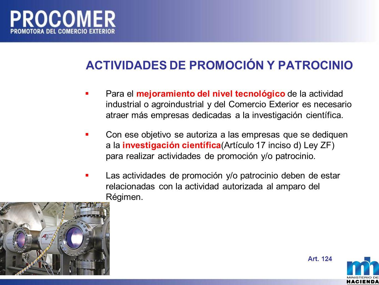 ACTIVIDADES DE PROMOCIÓN Y PATROCINIO