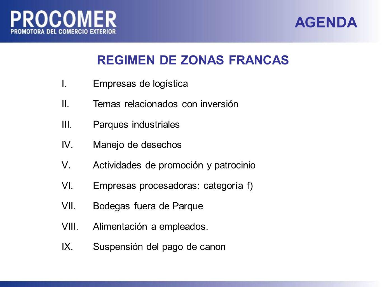 REGIMEN DE ZONAS FRANCAS
