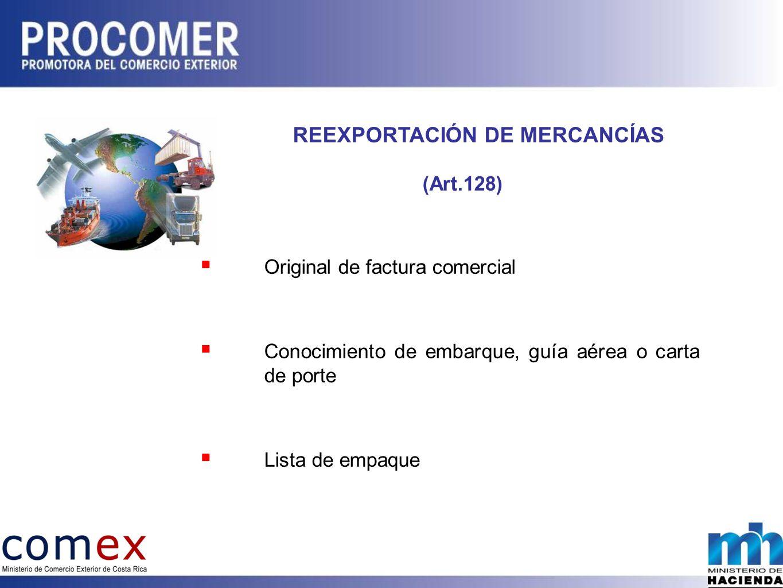REEXPORTACIÓN DE MERCANCÍAS