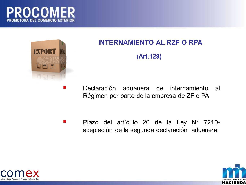 INTERNAMIENTO AL RZF O RPA