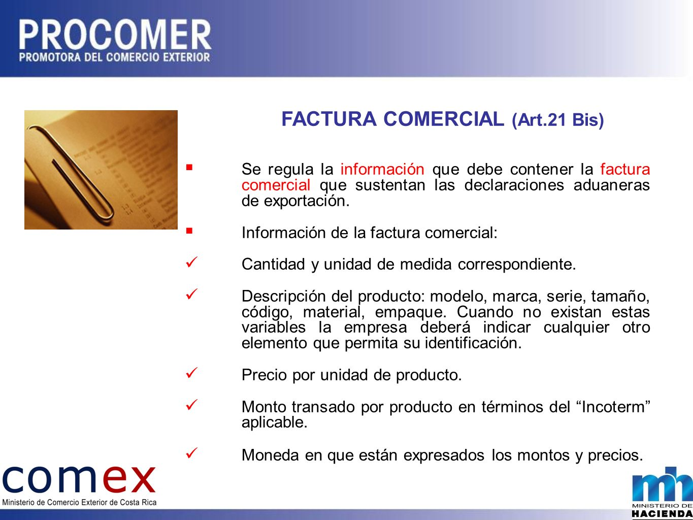 FACTURA COMERCIAL (Art.21 Bis)