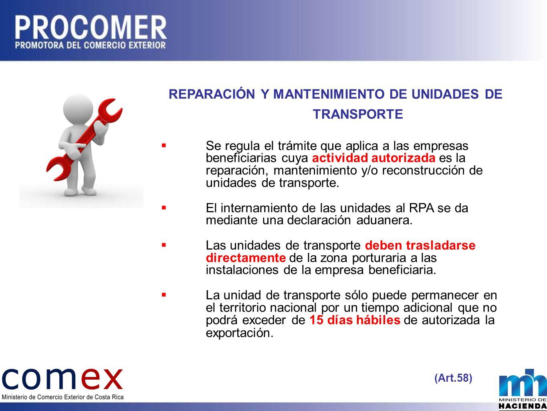 REPARACIÓN Y MANTENIMIENTO DE UNIDADES DE TRANSPORTE