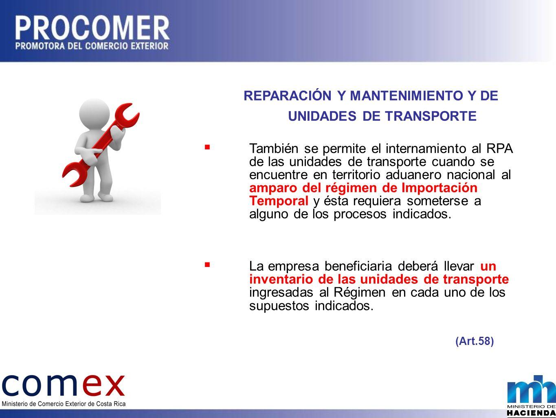 REPARACIÓN Y MANTENIMIENTO Y DE UNIDADES DE TRANSPORTE