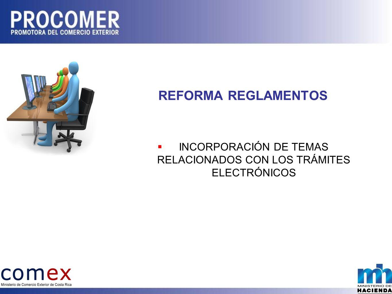 INCORPORACIÓN DE TEMAS RELACIONADOS CON LOS TRÁMITES ELECTRÓNICOS