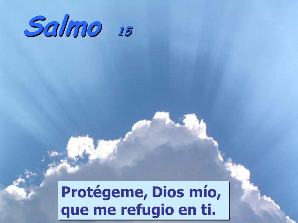 Salmo 15 Protégeme, Dios mío, que me refugio en ti.