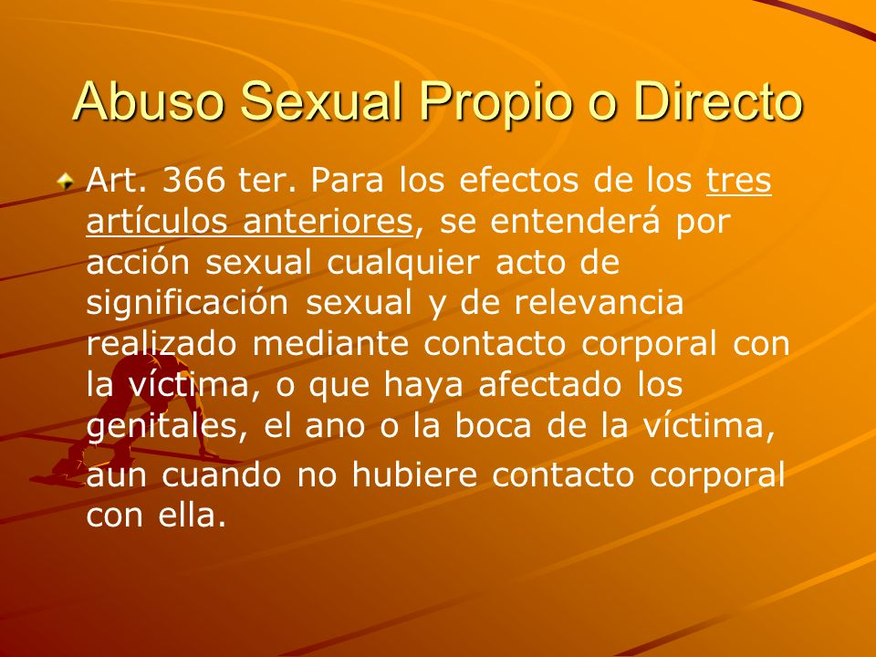 Abuso Sexual Propio o Directo
