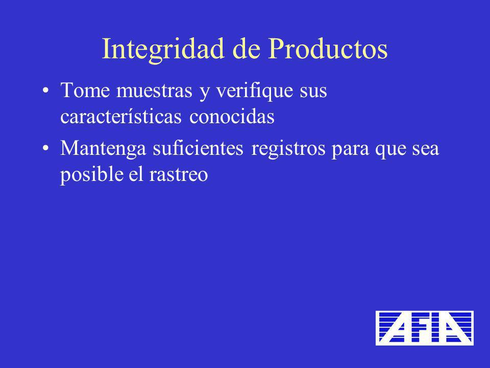 Integridad de Productos