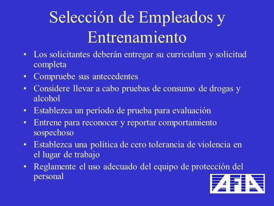 Selección de Empleados y Entrenamiento
