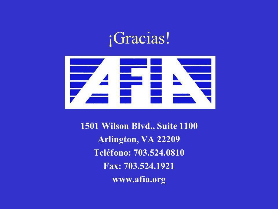 ¡Gracias! 1501 Wilson Blvd., Suite 1100 Arlington, VA 22209