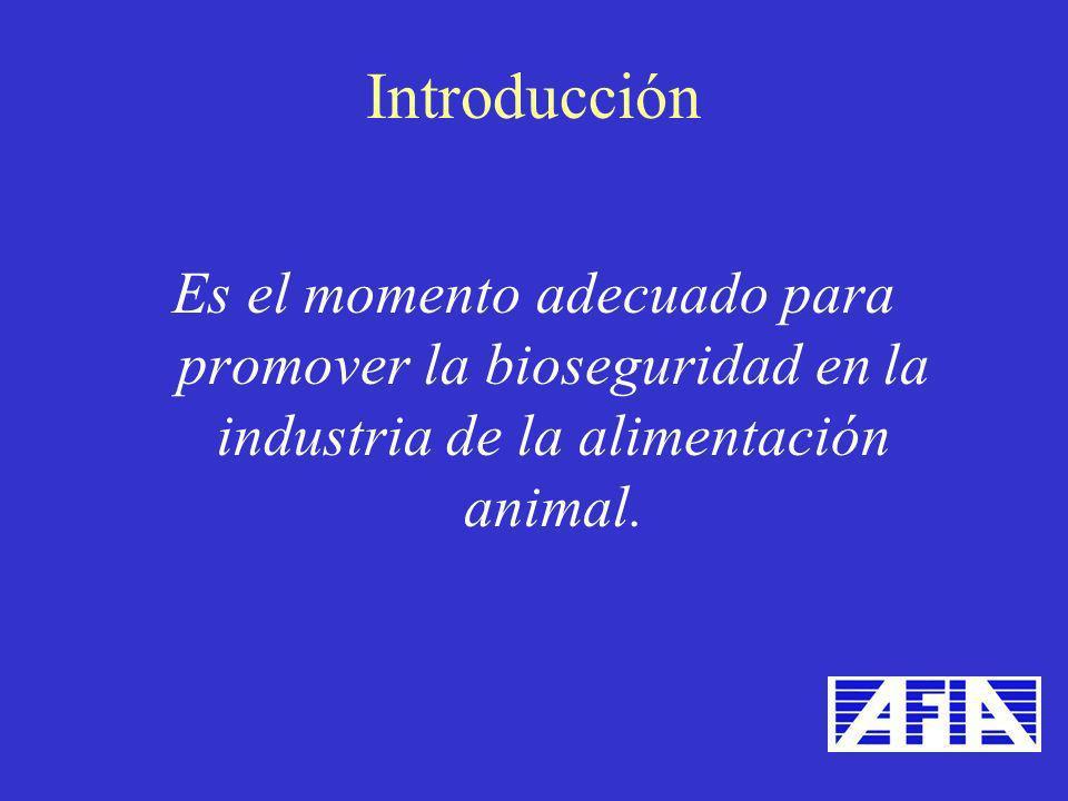 Introducción Es el momento adecuado para promover la bioseguridad en la industria de la alimentación animal.