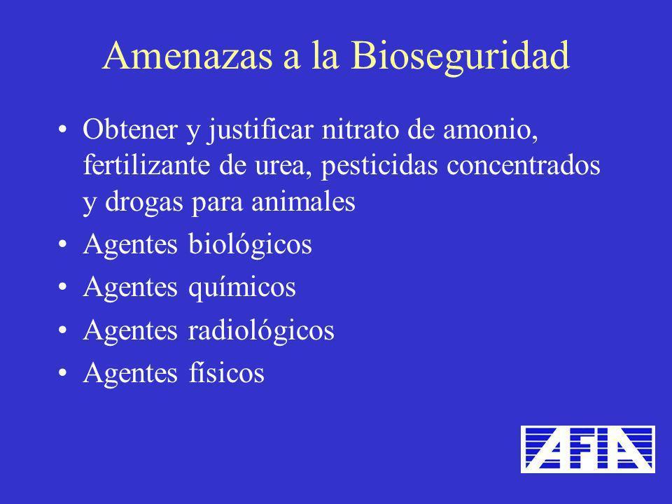 Amenazas a la Bioseguridad