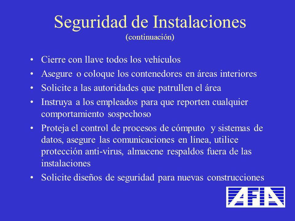 Seguridad de Instalaciones (continuación)