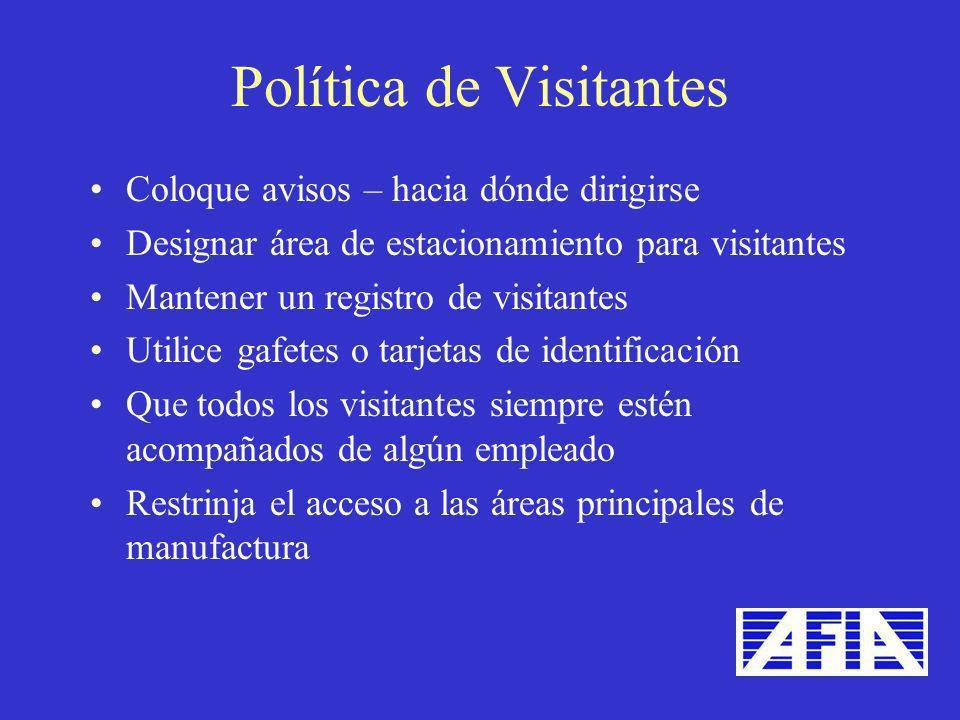 Política de Visitantes