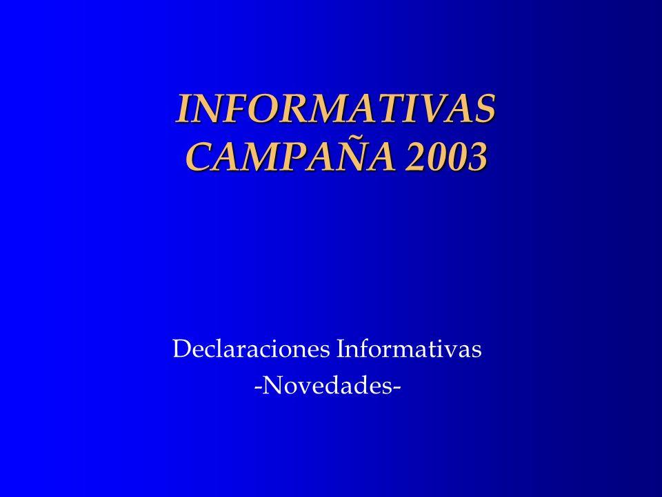 Declaraciones Informativas