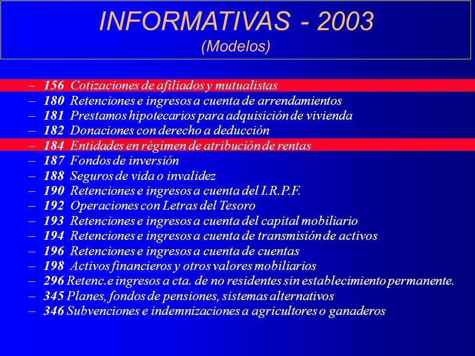 INFORMATIVAS - 2003 (Modelos)