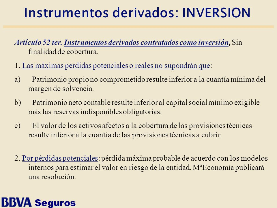 Instrumentos derivados: INVERSION