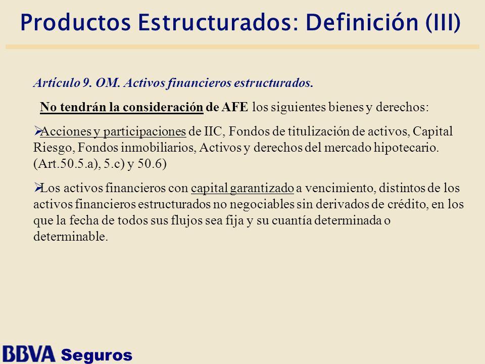 Productos Estructurados: Definición (III)