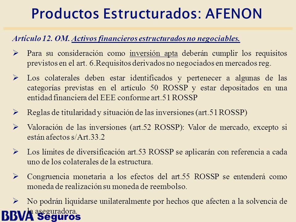 Productos Estructurados: AFENON