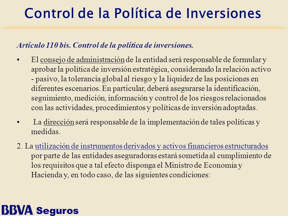 Control de la Política de Inversiones