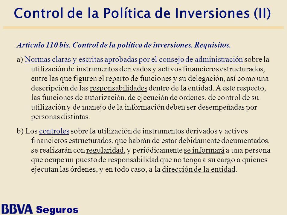 Control de la Política de Inversiones (II)