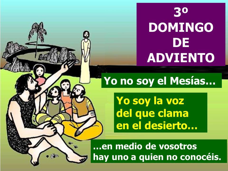 3º DOMINGO DE ADVIENTO Yo no soy el Mesías…