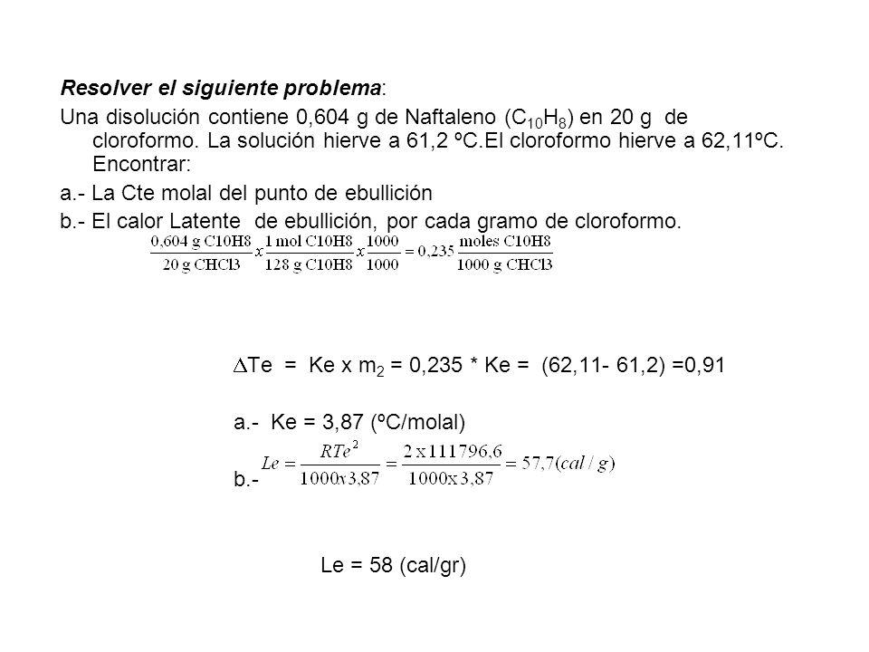 Resolver el siguiente problema: