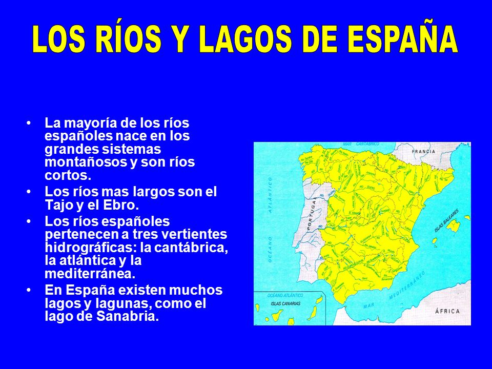LOS RÍOS Y LAGOS DE ESPAÑA