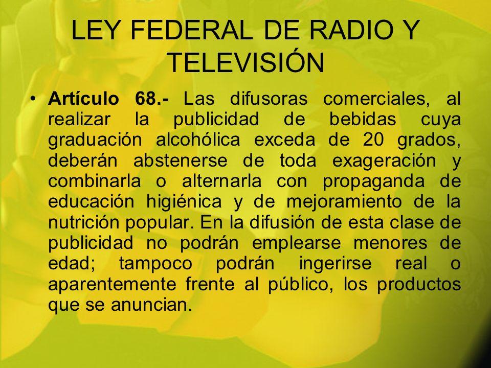 LEY FEDERAL DE RADIO Y TELEVISIÓN