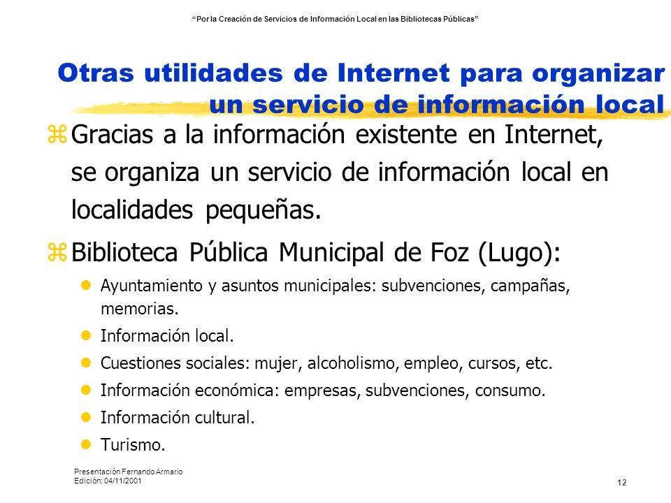 Biblioteca Pública Municipal de Foz (Lugo):