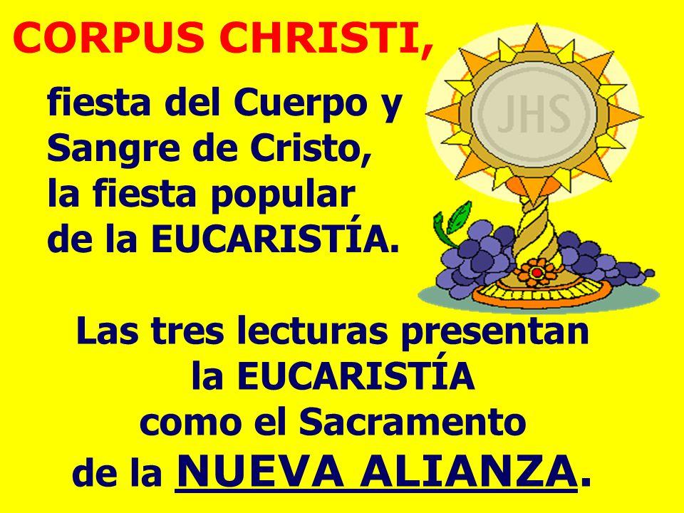 CORPUS CHRISTI, fiesta del Cuerpo y Sangre de Cristo, la fiesta popular de la EUCARISTÍA.