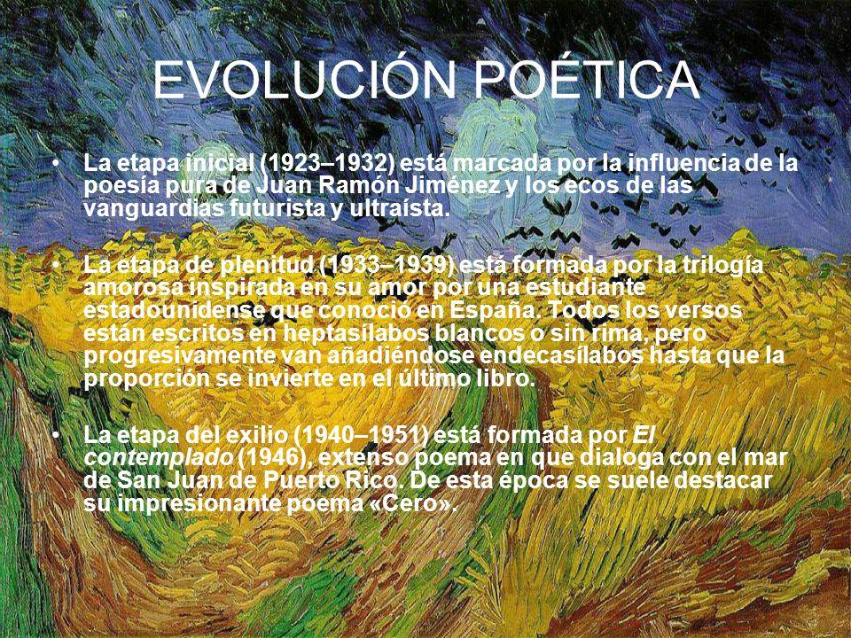 EVOLUCIÓN POÉTICA