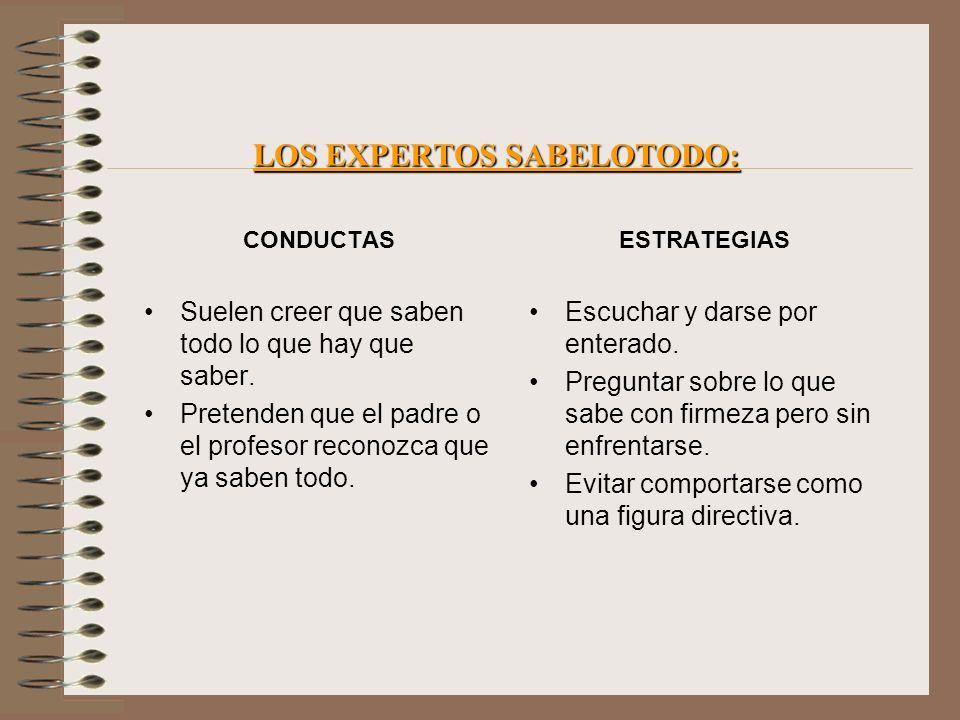 LOS EXPERTOS SABELOTODO: