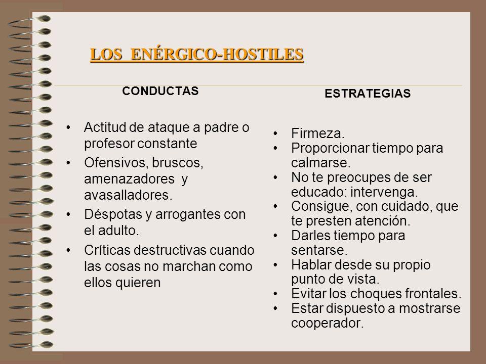 LOS ENÉRGICO-HOSTILES