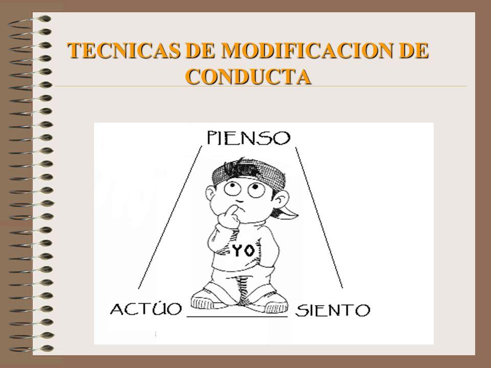 TECNICAS DE MODIFICACION DE CONDUCTA