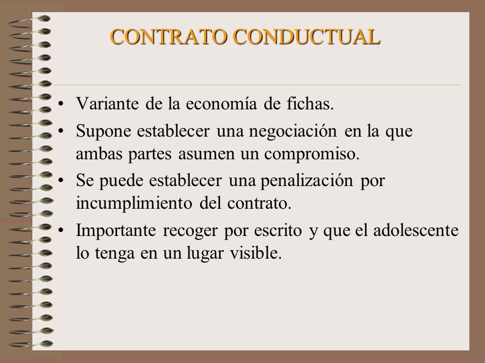 CONTRATO CONDUCTUAL Variante de la economía de fichas.
